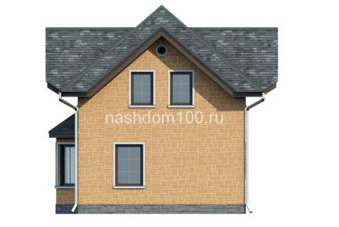 Фасад 4 каркасного дома Д-3