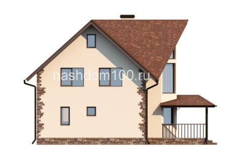 Фасад 2 каркасного дома Д-5