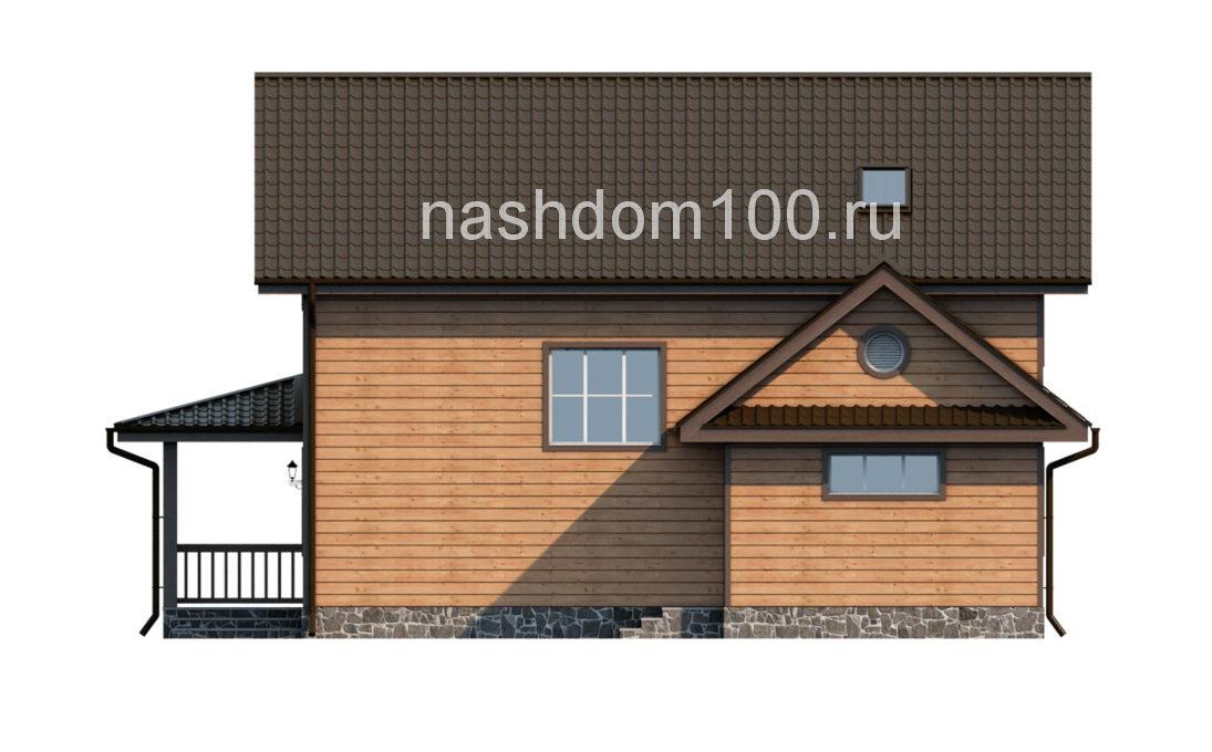 Фасад 2 каркасного дома Д-8