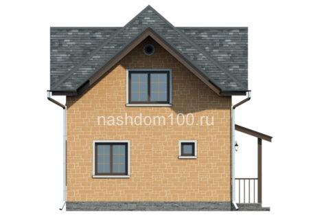 Фасад 3 каркасного дома Д-3