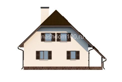 Фасад 3 каркасного дома Д-4