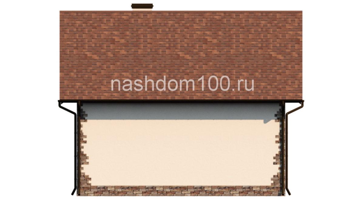 Фасад 3 каркасного дома Д-5