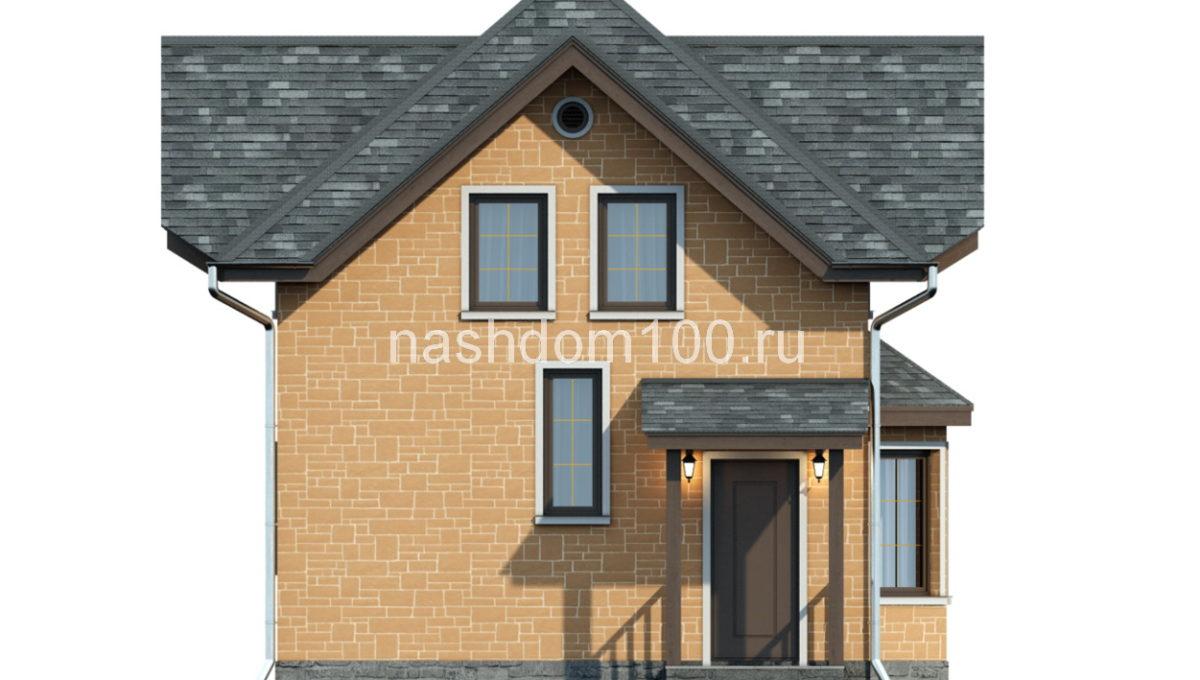 Фасад 1 каркасного дома Д-3