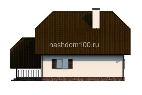 Фасад 4 каркасного дома Д-4