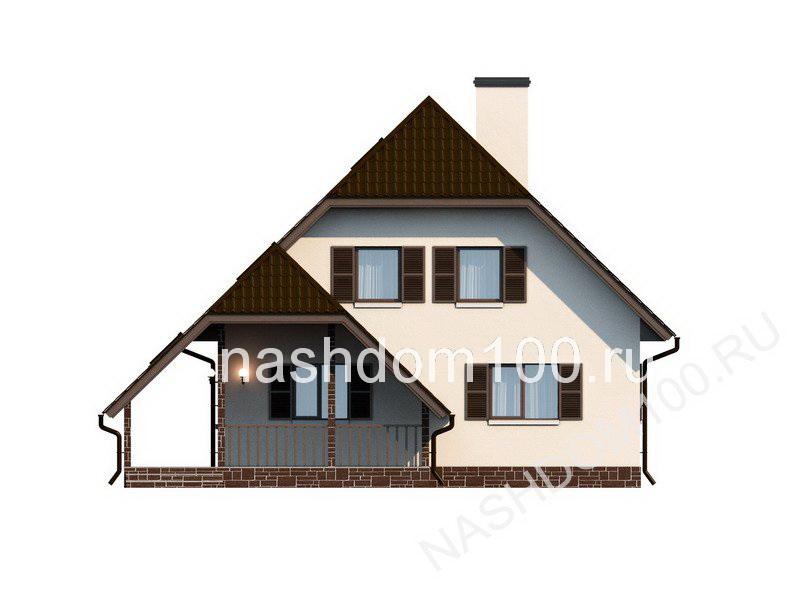 Фасад 1 каркасного дома Д-4