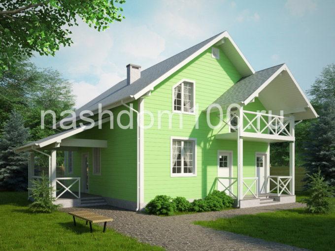Проект каркасного дома Д-22