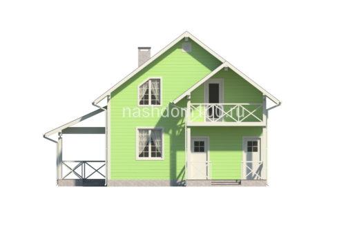 Фасад 1 каркасного дома Д-22