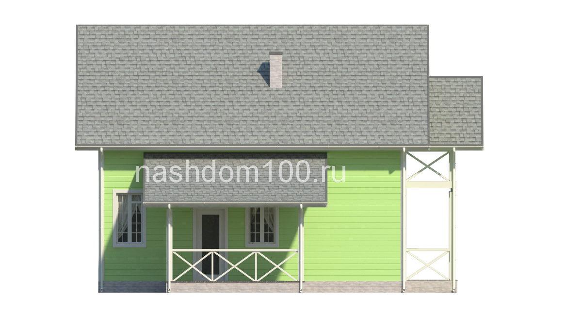 Фасад 3 каркасного дома Д-22