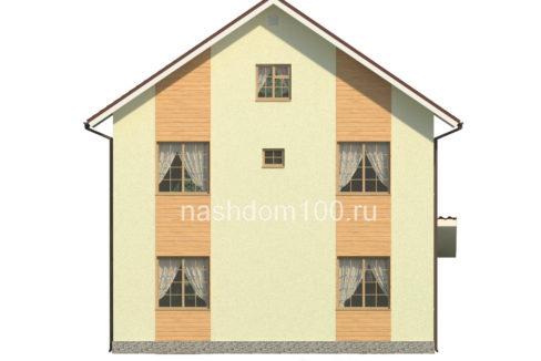Фасад 3 каркасного дома Д-23