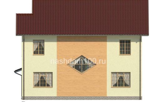 Фасад 4 каркасного дома Д-23