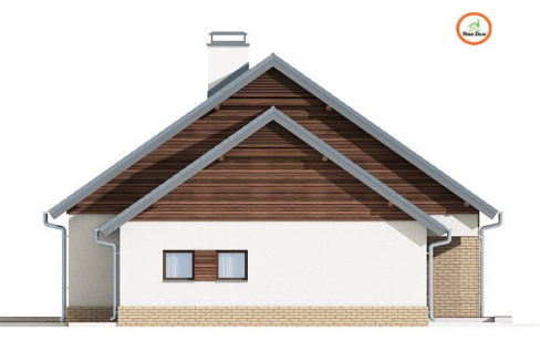 Фасад 4 каркасного дома Z-131