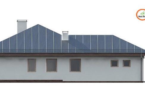 Фасад 2 каркасного дома Z-207