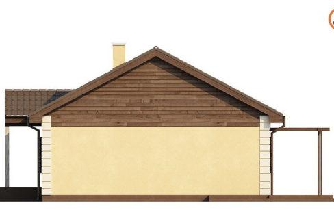 Фасад 3 каркасного дома Z-8