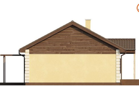 Фасад 4 каркасного дома Z-8