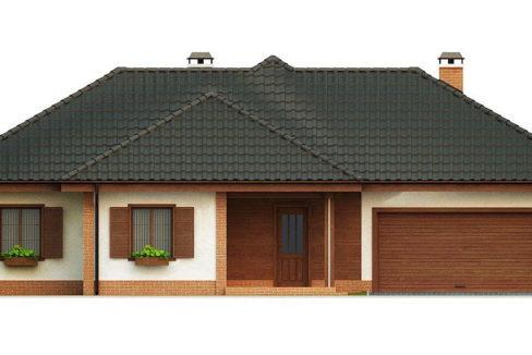 Фасад 2 каркасного дома Z-17