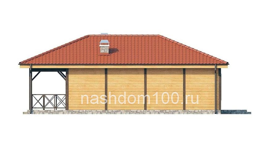 Фасад 4 каркасного дома Д-6