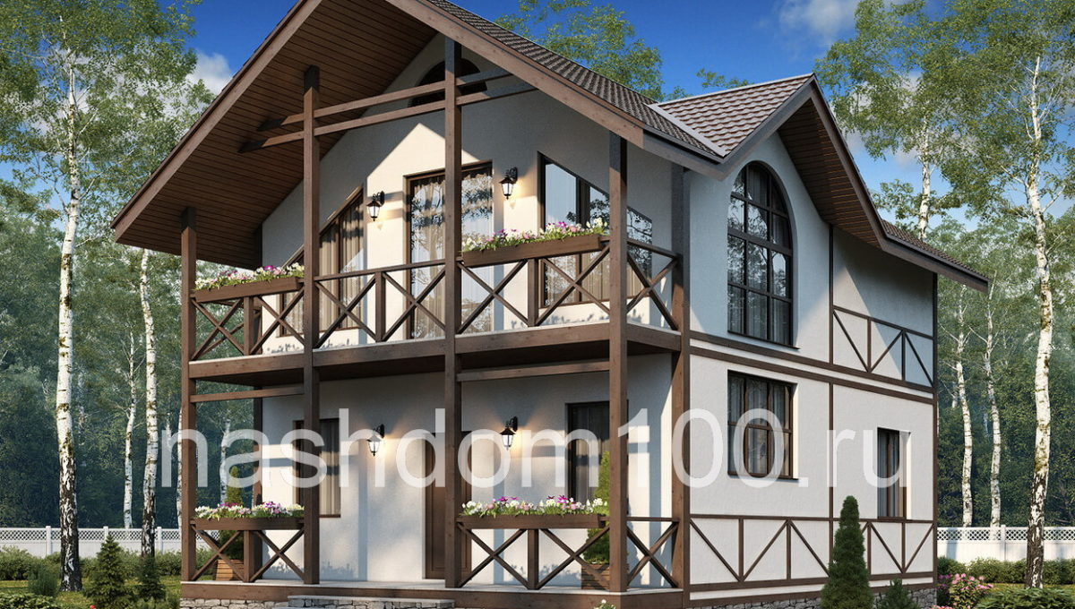 Проект каркасного дома Д-19