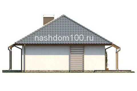 Фасад 2 каркасного дома Д-7