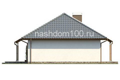Фасад 4 каркасного дома Д-7
