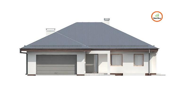 Фасад 1 каркасного дома Z-207