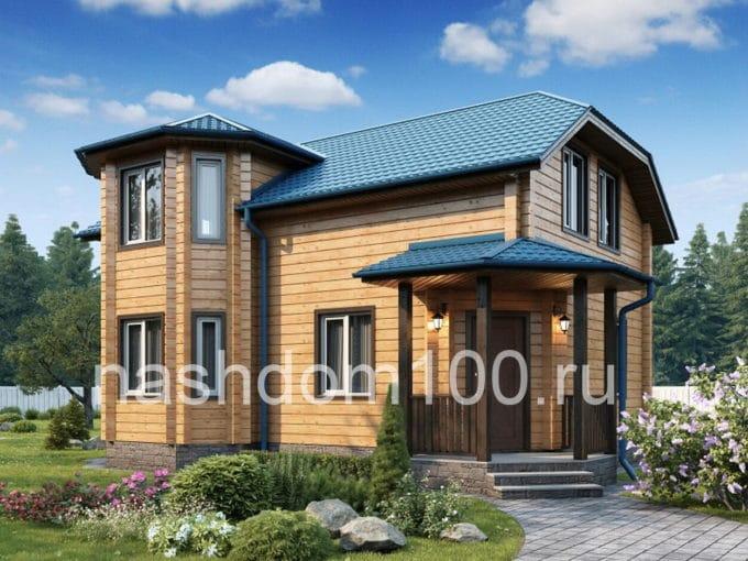 Проект каркасного дома Д-2