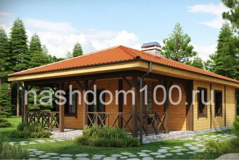 Проект каркасного дома Д-6