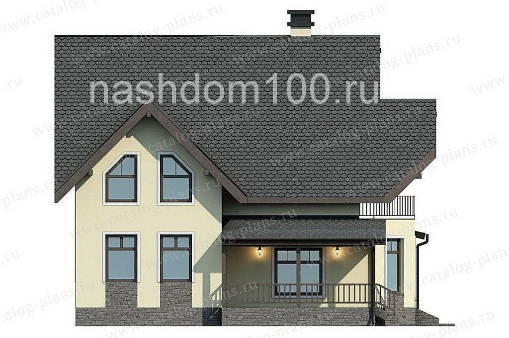 Фасад 1 каркасного дома Д-20