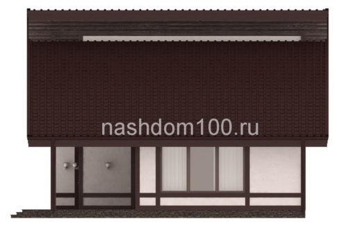 Фасад 2 каркасного дома Д-29