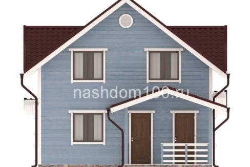 Фасад 2 каркасного дома Д-30