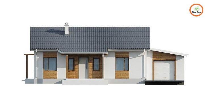 Фасад 1 каркасного дома Z-136G