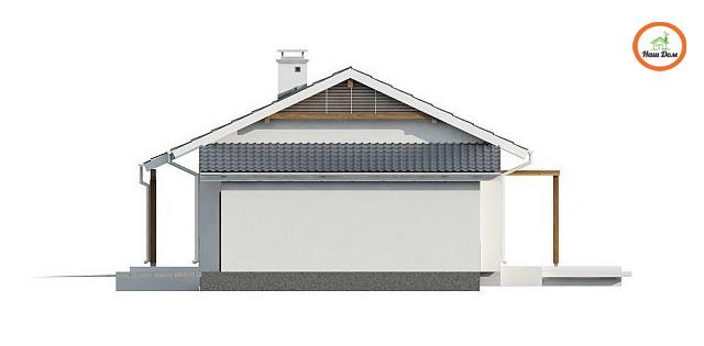 Фасад 2 каркасного дома Z-136G