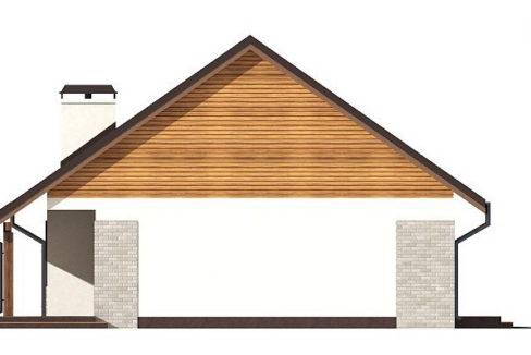 Фасад 1 каркасного дома Z-98