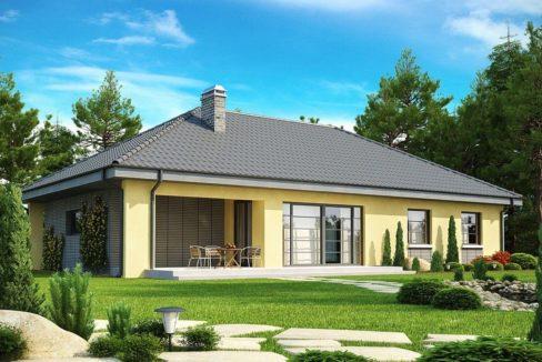 Проект каркасного дома Z-123