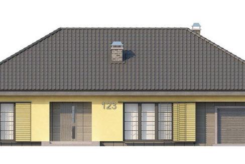 Фасад 4 каркасного дома Z-123