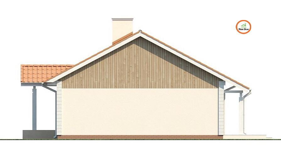 Фасад 1 каркасного дома Z-91