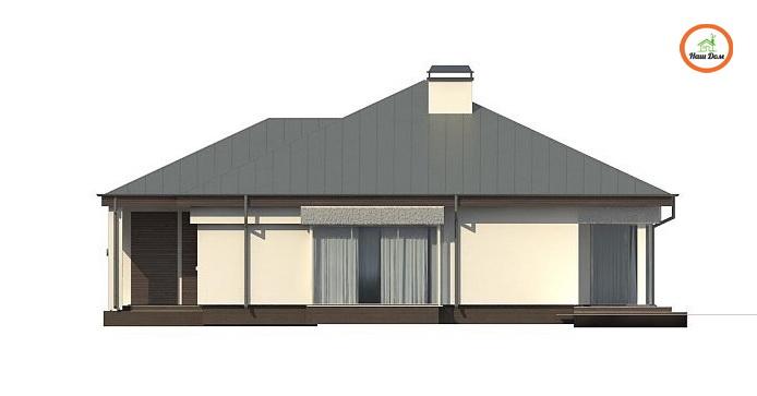 Фасад 1 каркасного дома Z-200