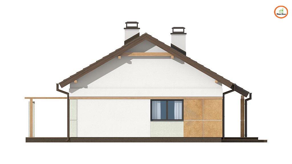 Фасад 4 каркасного дома Z-253