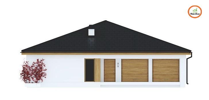 Фасад 3 каркасного дома Z-196