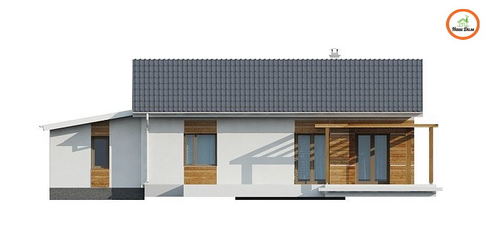 Фасад 3 каркасного дома Z-136G