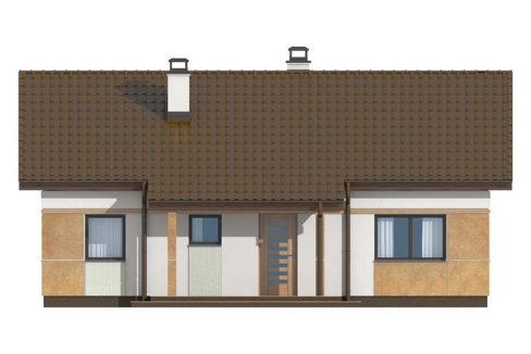 Фасад 2 каркасного дома Z-253