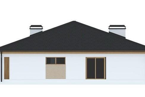 Фасад 2 каркасного дома Z-196