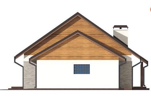 Фасад 4 каркасного дома Z-98