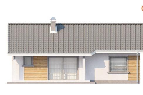 Фасад 3 каркасного дома Z-87