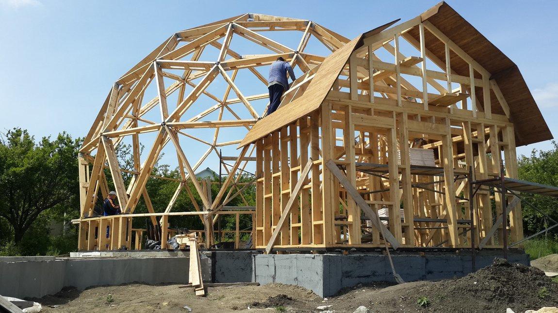 каркасный дом сложная архитектура