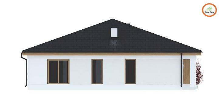 Фасад 4 каркасного дома Z-196