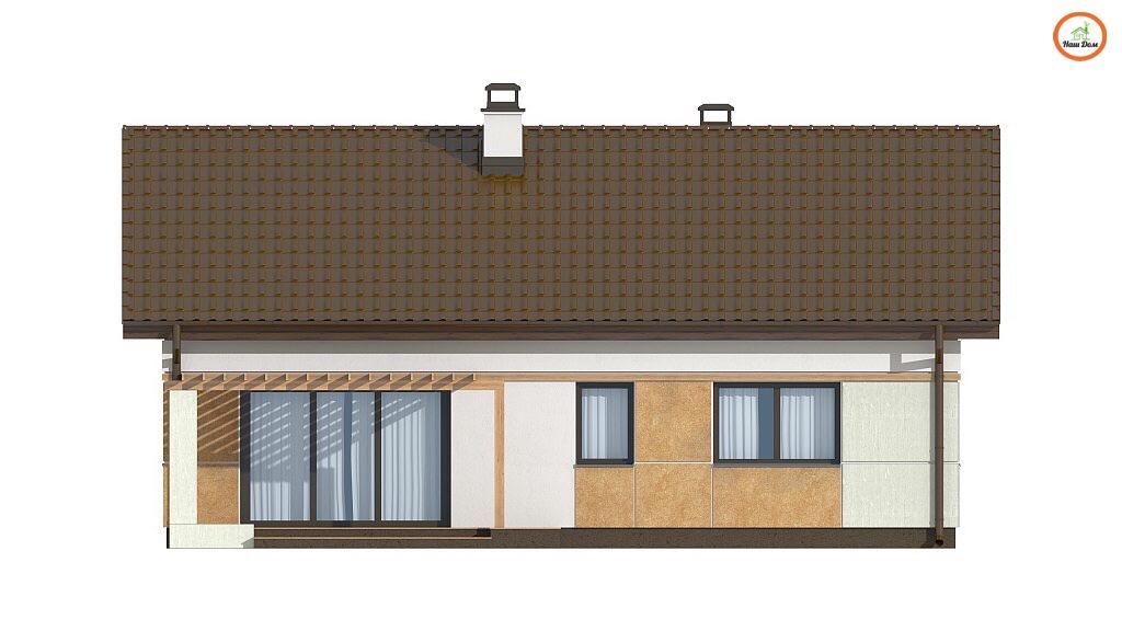 Фасад 1 каркасного дома Z-253