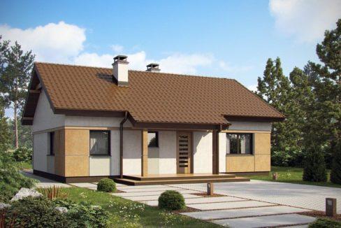 Проект каркасного дома Z-253