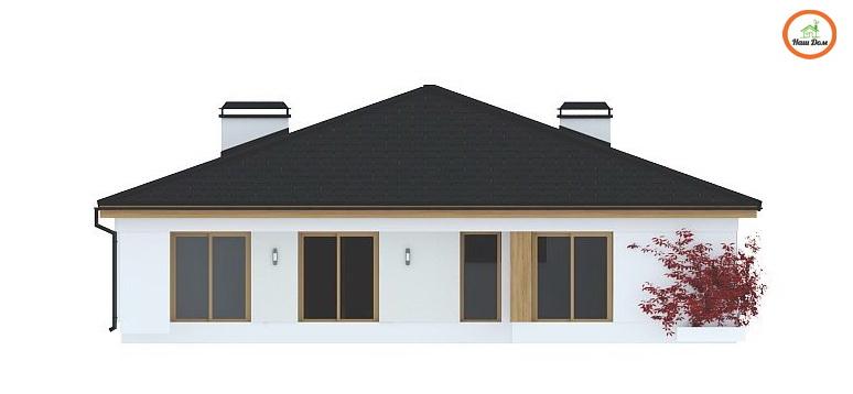 Фасад 1 каркасного дома Z-196