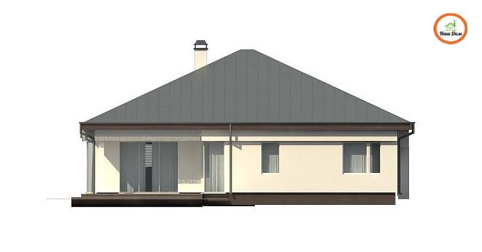 Фасад 3 каркасного дома Z-200