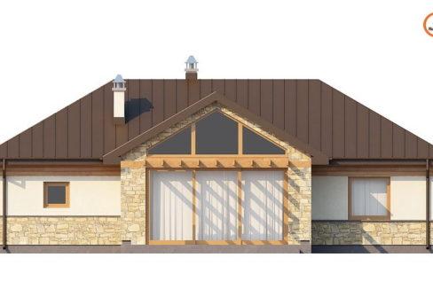 Фасад 1 каркасного дома Z-151